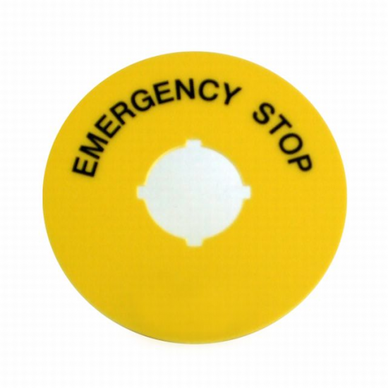 Yellow Label E-Stop - Click Image to Close