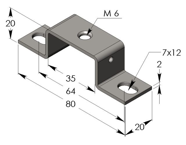 DIN Rail Mounting Bracket - Click Image to Close