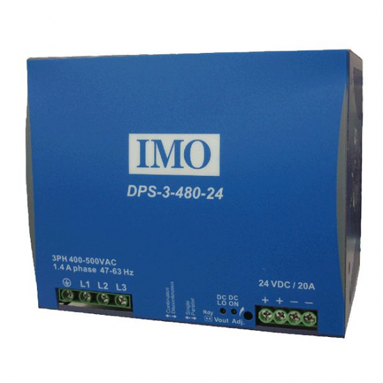 DPS-3-480-24DC DIN Power Supplies 3 Phase - Click Image to Close